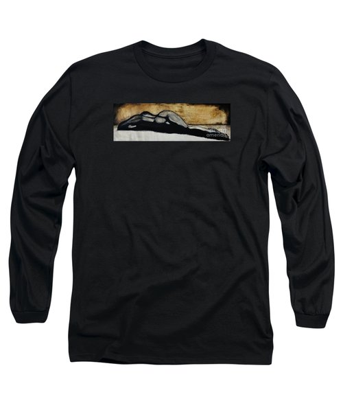 Long Sleeve T-Shirt featuring the drawing Emotive 2 by Michael Cross