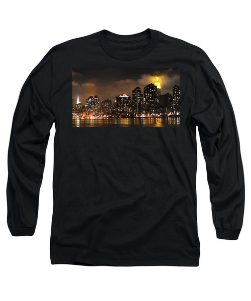 Empire State Building From Long Island City Long Sleeve T-Shirt by Steve Archbold