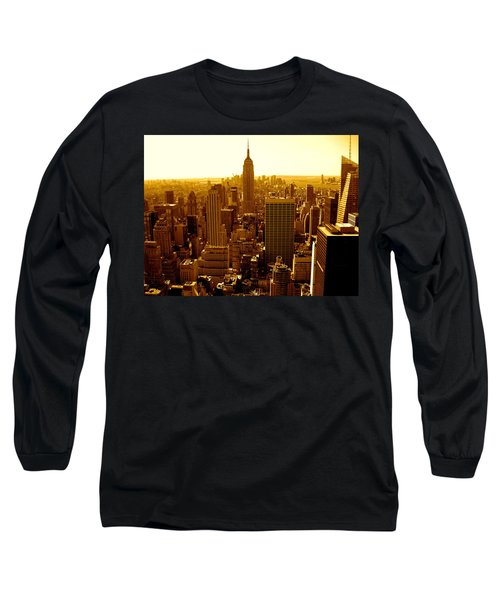 Manhattan And Empire State Building Long Sleeve T-Shirt