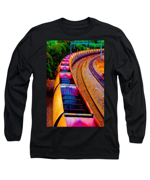 Empty Coal Hoppers Long Sleeve T-Shirt by Chuck Mountain