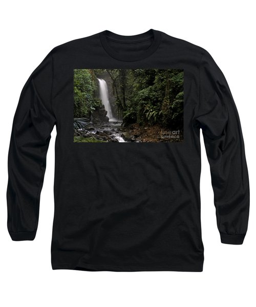 Long Sleeve T-Shirt featuring the photograph Encantada Waterfall Costa Rica by Teresa Zieba