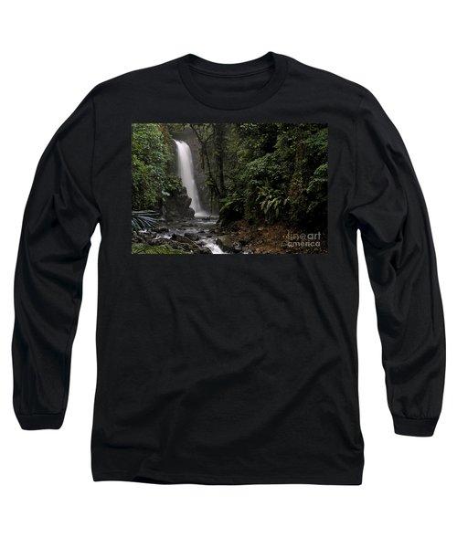 Encantada Waterfall Costa Rica Long Sleeve T-Shirt