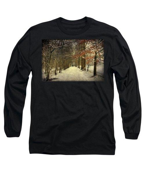 Enchanting Dutch Winter Landscape Long Sleeve T-Shirt