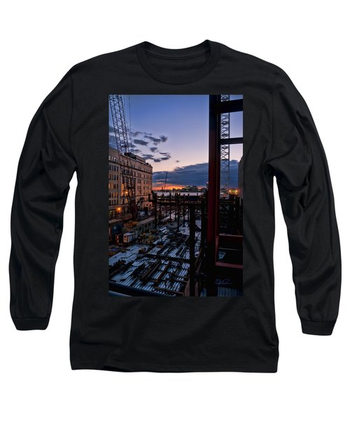 End Of The Day Long Sleeve T-Shirt by Steve Sahm