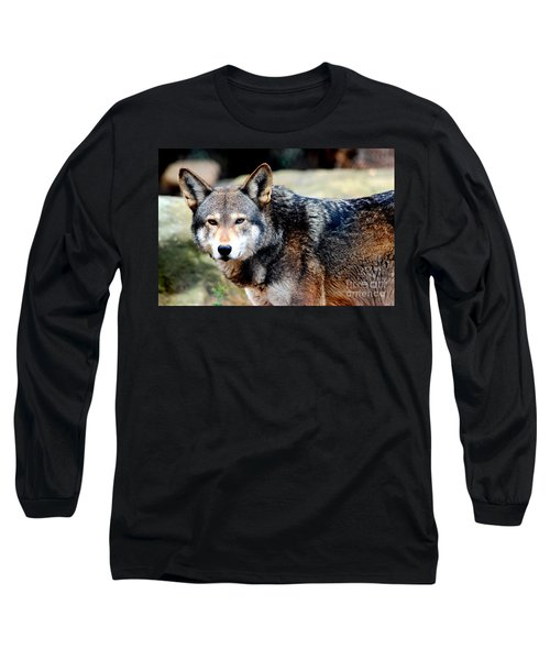 Endangered Red Wolf Long Sleeve T-Shirt