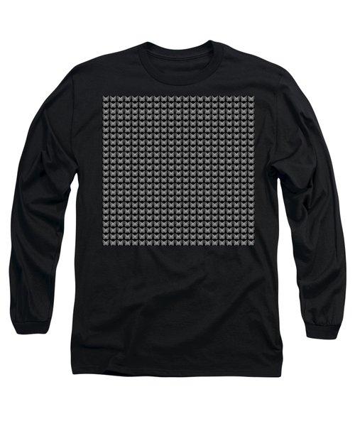 Endless Butterflies On Black Long Sleeve T-Shirt