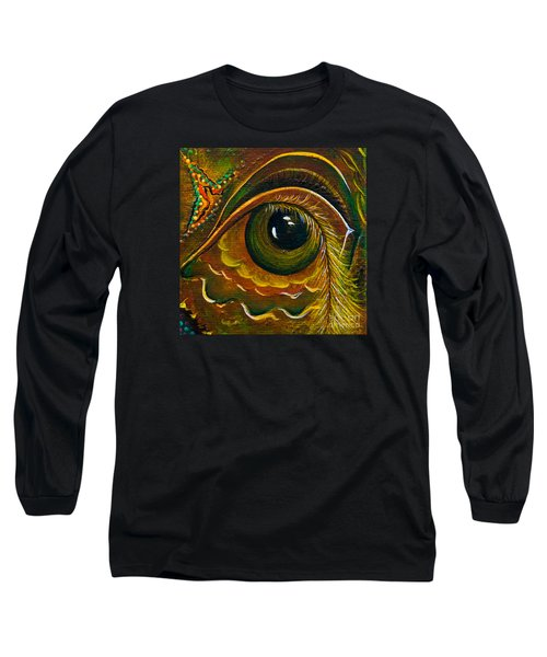 Long Sleeve T-Shirt featuring the painting Enigma Spirit Eye by Deborha Kerr