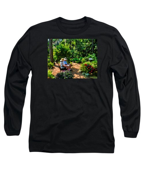 Loving Couple Enjoying Their Prayer Garden Long Sleeve T-Shirt