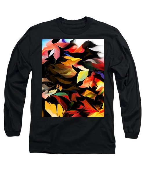 Long Sleeve T-Shirt featuring the digital art Entropic Dance Of The Salamander First Snow.  by David Lane