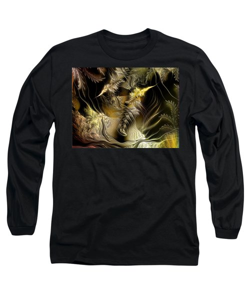 Long Sleeve T-Shirt featuring the digital art Environmental Transitions 5 by Casey Kotas