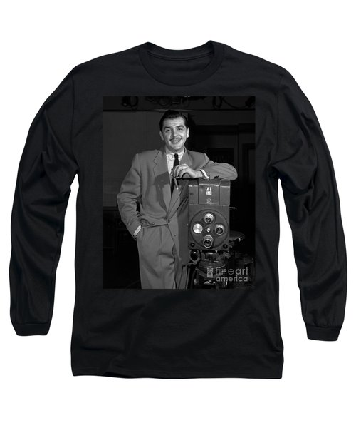 Long Sleeve T-Shirt featuring the photograph Ernie Kovacs 1957 by Martin Konopacki Restoration