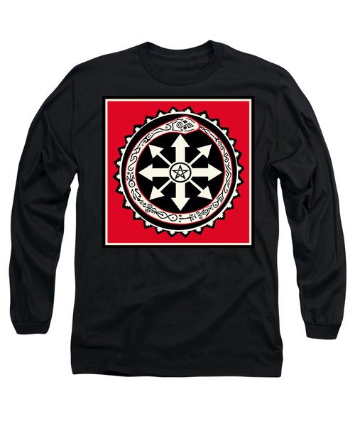 Long Sleeve T-Shirt featuring the digital art Eternal Struggle Of Chaos by Vagabond Folk Art - Virginia Vivier