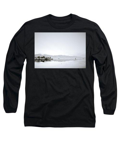 Ethereal Mono Lake Long Sleeve T-Shirt by Shaun Higson