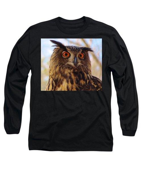 Long Sleeve T-Shirt featuring the photograph Eurasian Eagle Owl by Cynthia Guinn