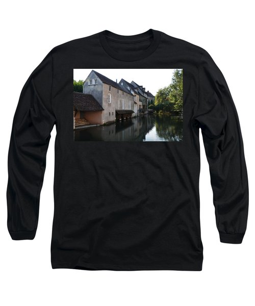 Eure River And Old Fulling Mills In Chartres Long Sleeve T-Shirt