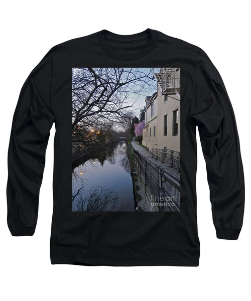 Evening On The Canal Path Long Sleeve T-Shirt