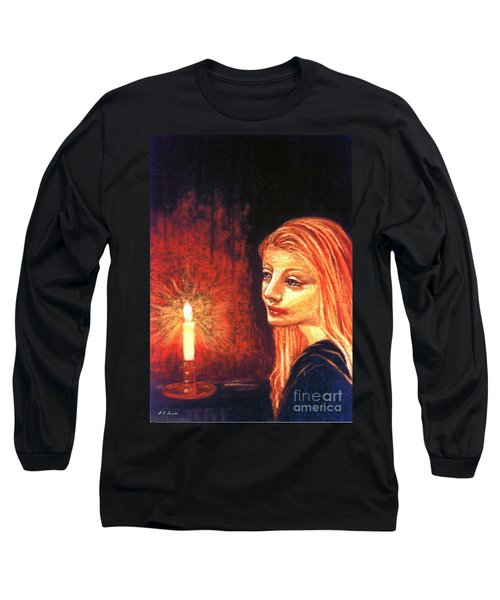 Long Sleeve T-Shirt featuring the painting Evening Prayer by Jane Small