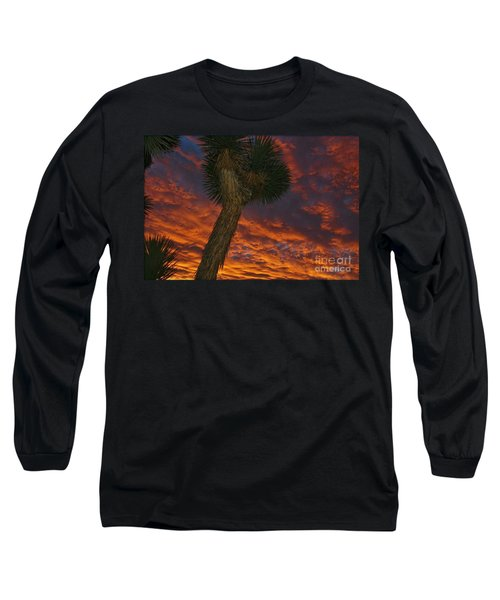 Evening Red Event Long Sleeve T-Shirt by Angela J Wright