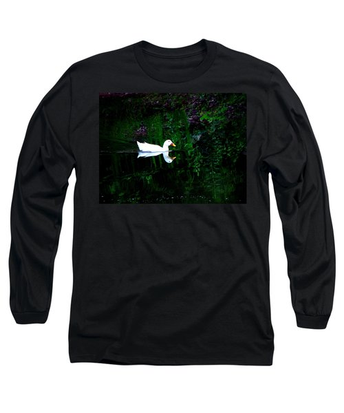 Long Sleeve T-Shirt featuring the photograph Evening Swim by Greg Simmons