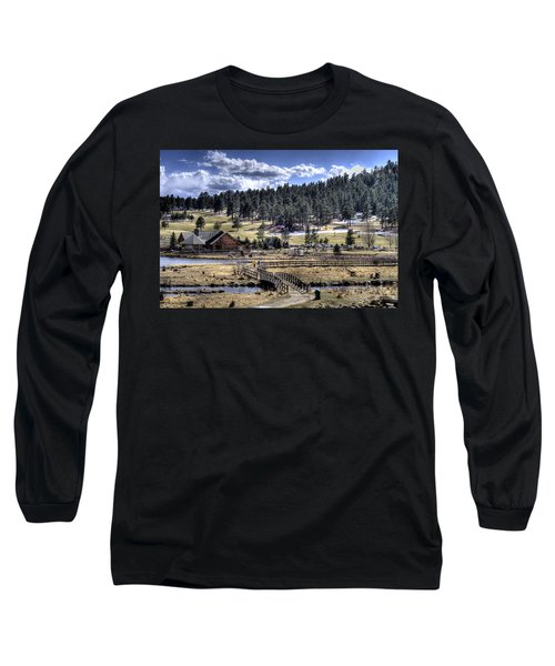 Evergreen Colorado Lakehouse Long Sleeve T-Shirt by Ron White