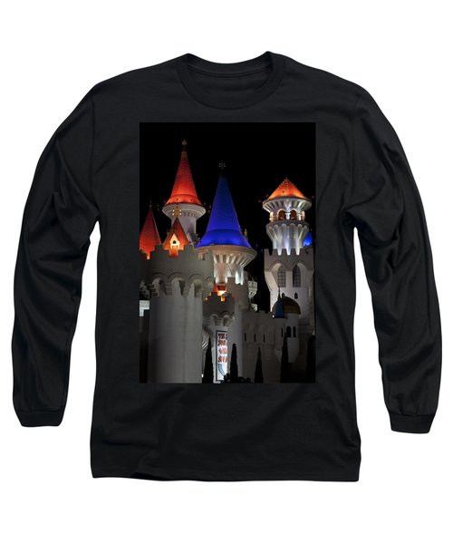 Excalibur Casino After Midnight Long Sleeve T-Shirt by Ivete Basso Photography