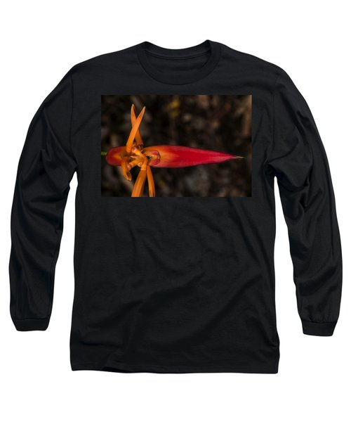 Long Sleeve T-Shirt featuring the photograph Exotic Heliconia by Steven Sparks