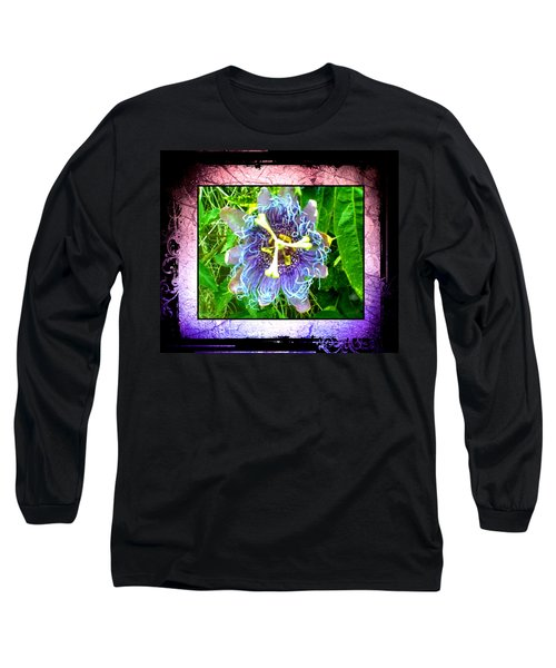 Long Sleeve T-Shirt featuring the photograph Exotic Strange Flower by Absinthe Art By Michelle LeAnn Scott