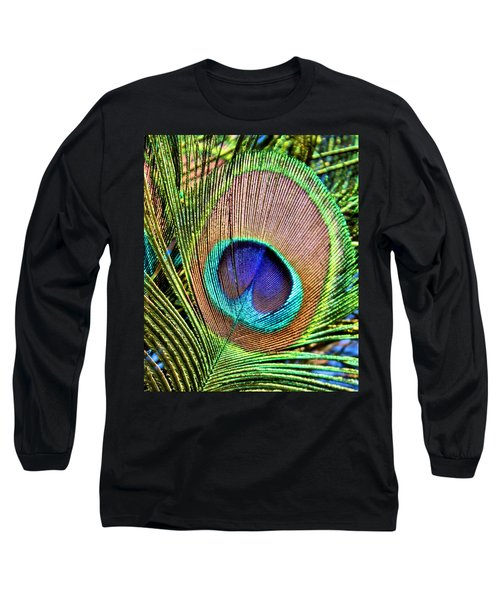 Eye Of The Feather Long Sleeve T-Shirt by Kristin Elmquist