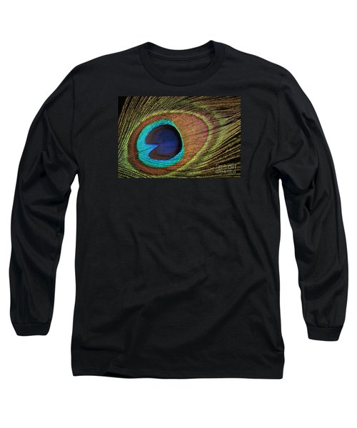 Eye Of The Peacock Long Sleeve T-Shirt by Judy Whitton