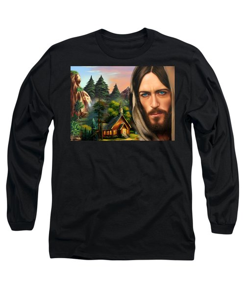 Eyes Of Love And Compassion 2 Long Sleeve T-Shirt by Karen Showell