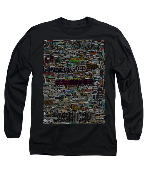 F - Words Long Sleeve T-Shirt