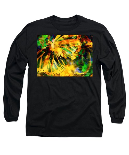 Face In The Rock Conjures Leaves Into Butterfly Long Sleeve T-Shirt