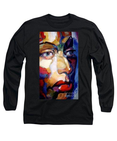 Face Of A Woman Long Sleeve T-Shirt