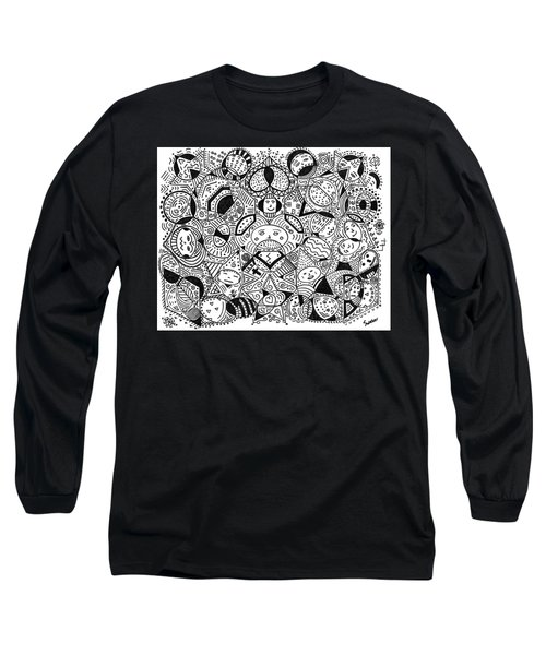 Faces In The Crowd Long Sleeve T-Shirt