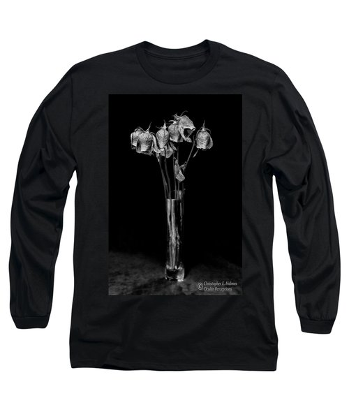 Faded Long Stems - Bw Long Sleeve T-Shirt