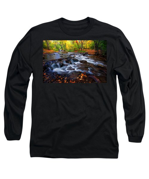 Long Sleeve T-Shirt featuring the photograph Fall On Fountain Creek by Ronda Kimbrow