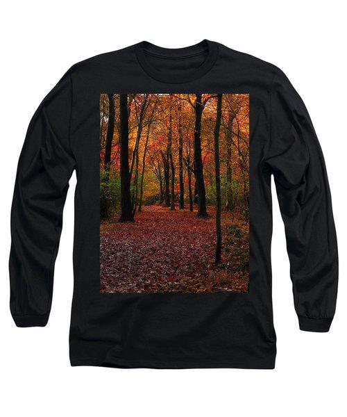 Long Sleeve T-Shirt featuring the photograph Fall Path by Raymond Salani III