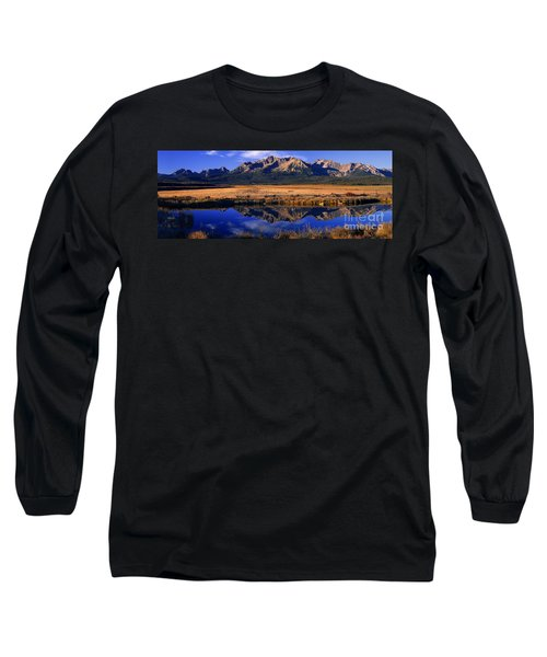 Fall Reflections Sawtooth Mountains Idaho Long Sleeve T-Shirt