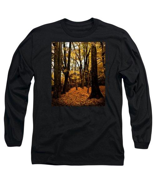 Fall Scene In Bidwell Park Long Sleeve T-Shirt