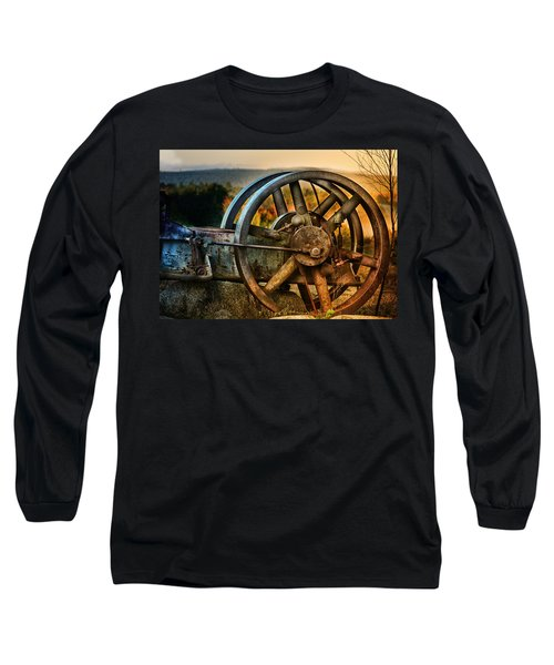 Fall Through The Wheels Long Sleeve T-Shirt by Susan Capuano