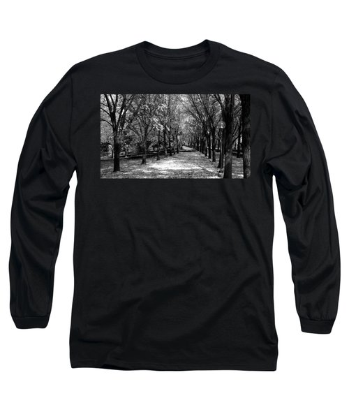 Fall Tree Promenade Landscape Long Sleeve T-Shirt