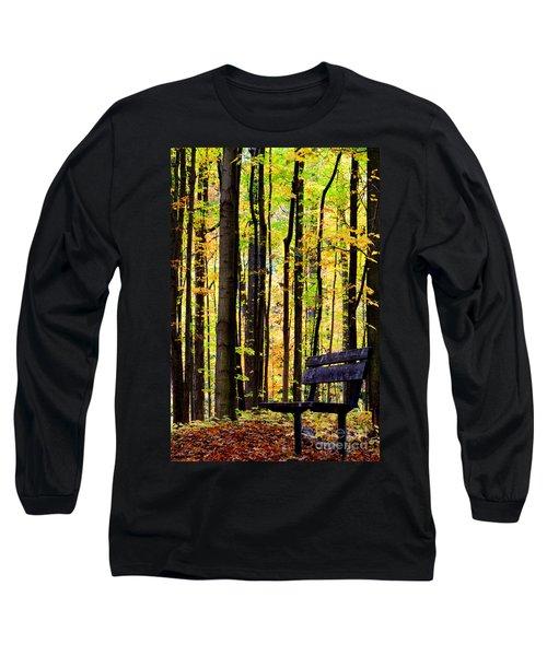 Fall Woods In Michigan Long Sleeve T-Shirt