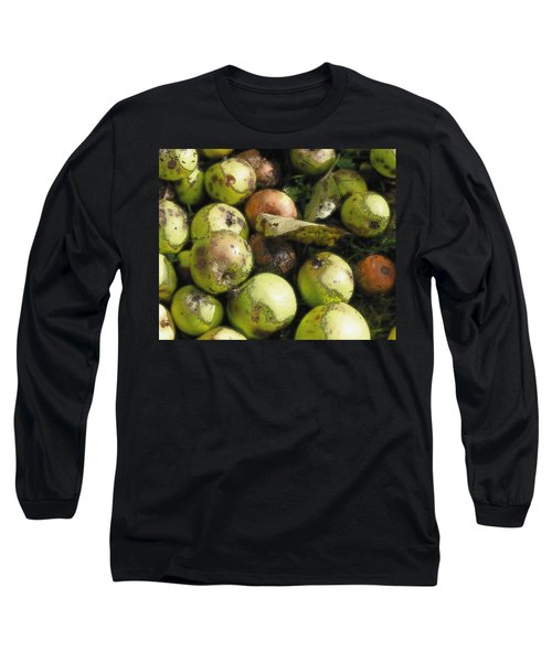 Fallen Aplles Long Sleeve T-Shirt by Ron Harpham