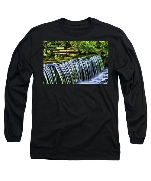 Long Sleeve T-Shirt featuring the painting Falls by Muhie Kanawati