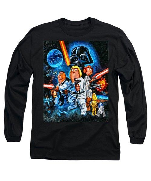 Family Guy Star Wars Long Sleeve T-Shirt by Joe Misrasi