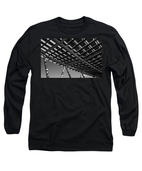 Farming The Sun - Architectural Abstract Long Sleeve T-Shirt by Steven Milner