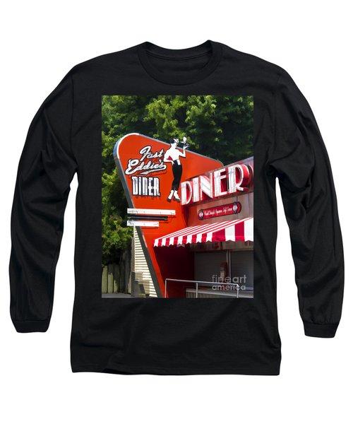 Fast Eddies Diner Art Deco Fifties Long Sleeve T-Shirt