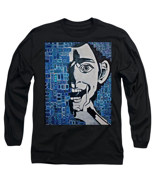 Long Sleeve T-Shirt featuring the painting Fats And The Raven by Donna Howard