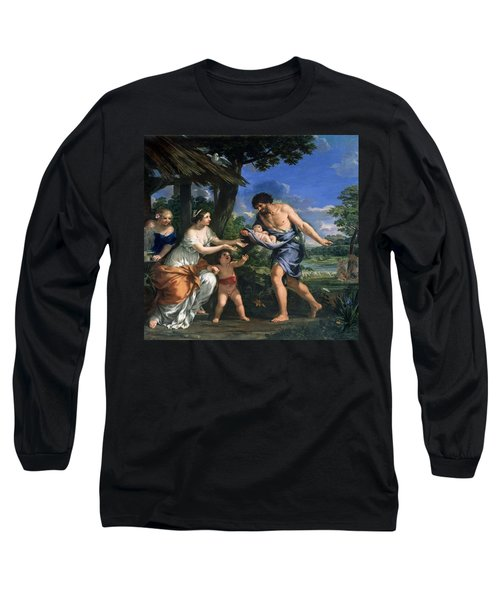 Faustulus Entrusting Romulus And Remus To His Wife Acca Larentia, C.1643 Oil On Canvas Long Sleeve T-Shirt
