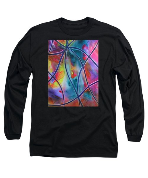Faux Stained Glass II Long Sleeve T-Shirt